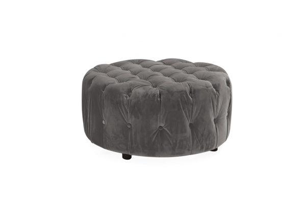 grey footstool