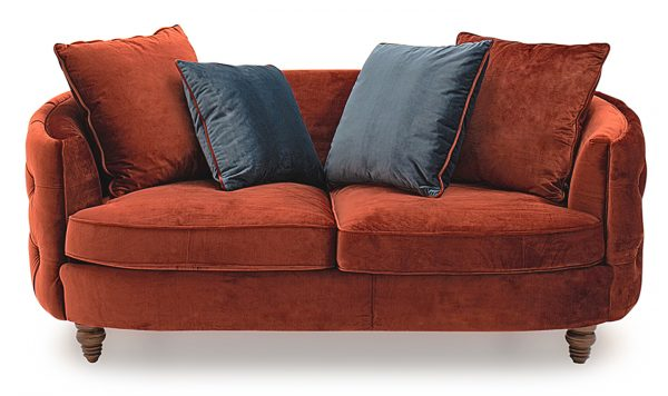 Traditional Red Sofa