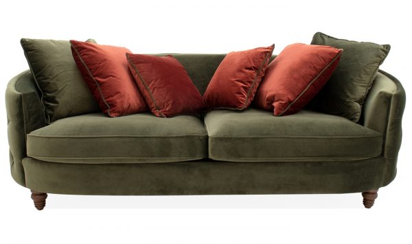 Traditional Green Sofa